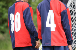 FYFC's instantly recognisable navy and red kit