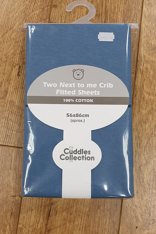 Cuddles Collection Next To Me Crib Sheets- Blue