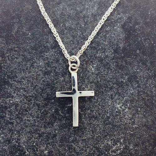 Silver Cross. Plain sterling silver cross.
