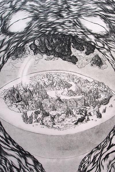 Amord detail 1 gravure eau forte triptyque de Saturne
