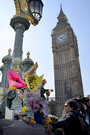 Floral Tribute in Westminster