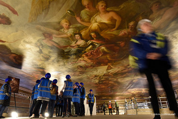 The Painted Hall/Old Royal Naval College(旧海軍大学校)の天井画補修工事を見に行く