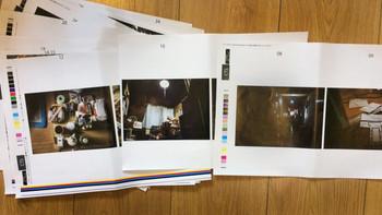 写真集用の色校正紙