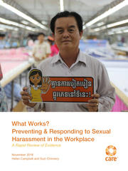 What Works? Preventing and Responding to Sexual Harassment in the WorkplaceWhat Works? Preventing and Responding to Sexual Harassment in the Workplace