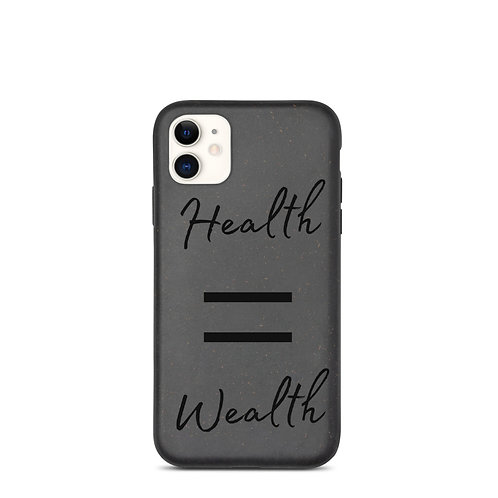 Health = Wealth Biodegradable iPhone Case
