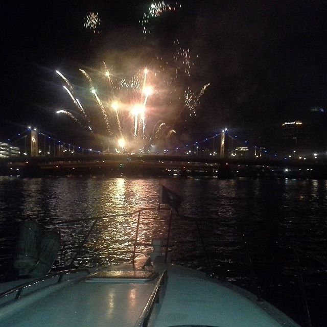 #fireworks  #gobuccos on #RushHourBoatCharters
