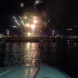#fireworks  #gobuccos on #RushHourBoatCharters