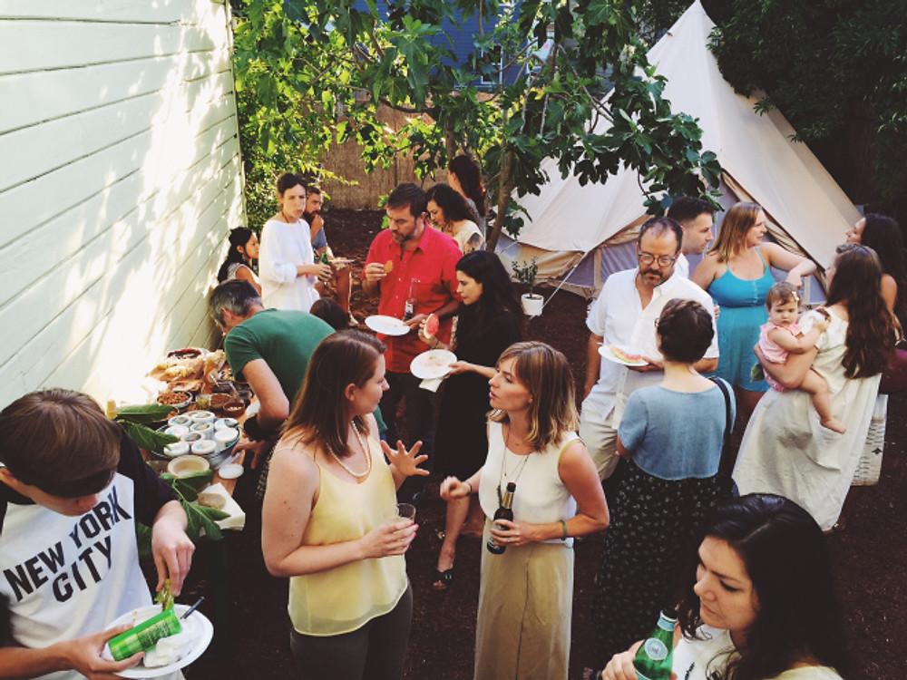 backyard party styles