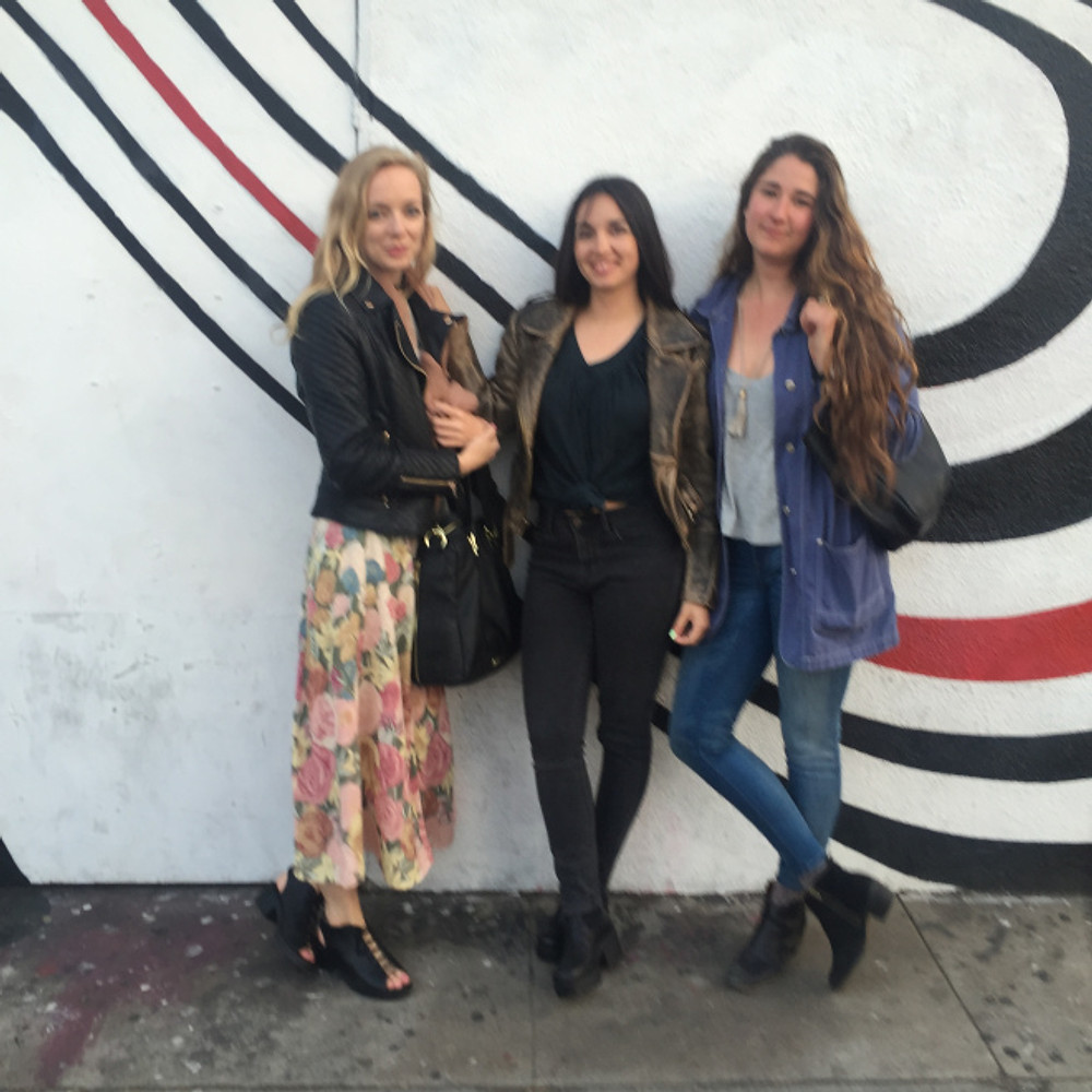 Hanging out on Sunset with some Portland babes and sharing Elliott Smith stories