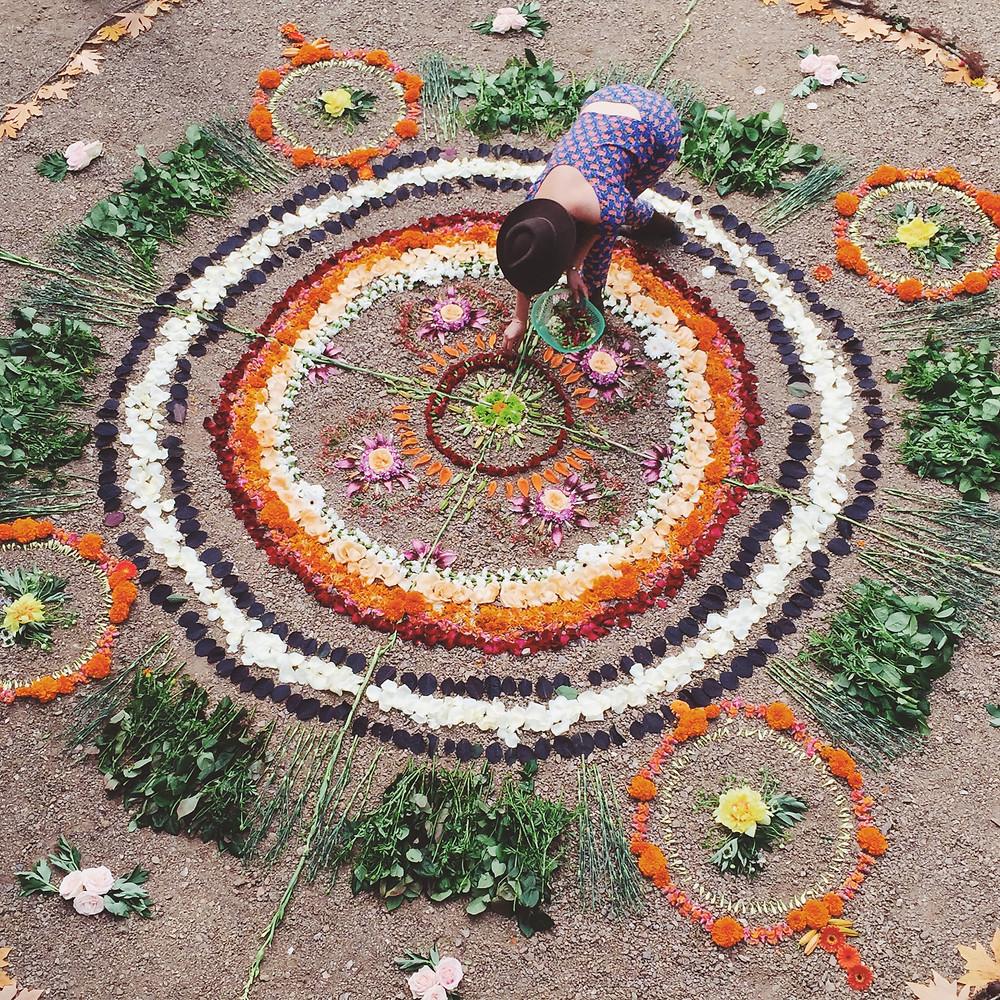 Magic flower mandala making with the mastery of Alea Joy