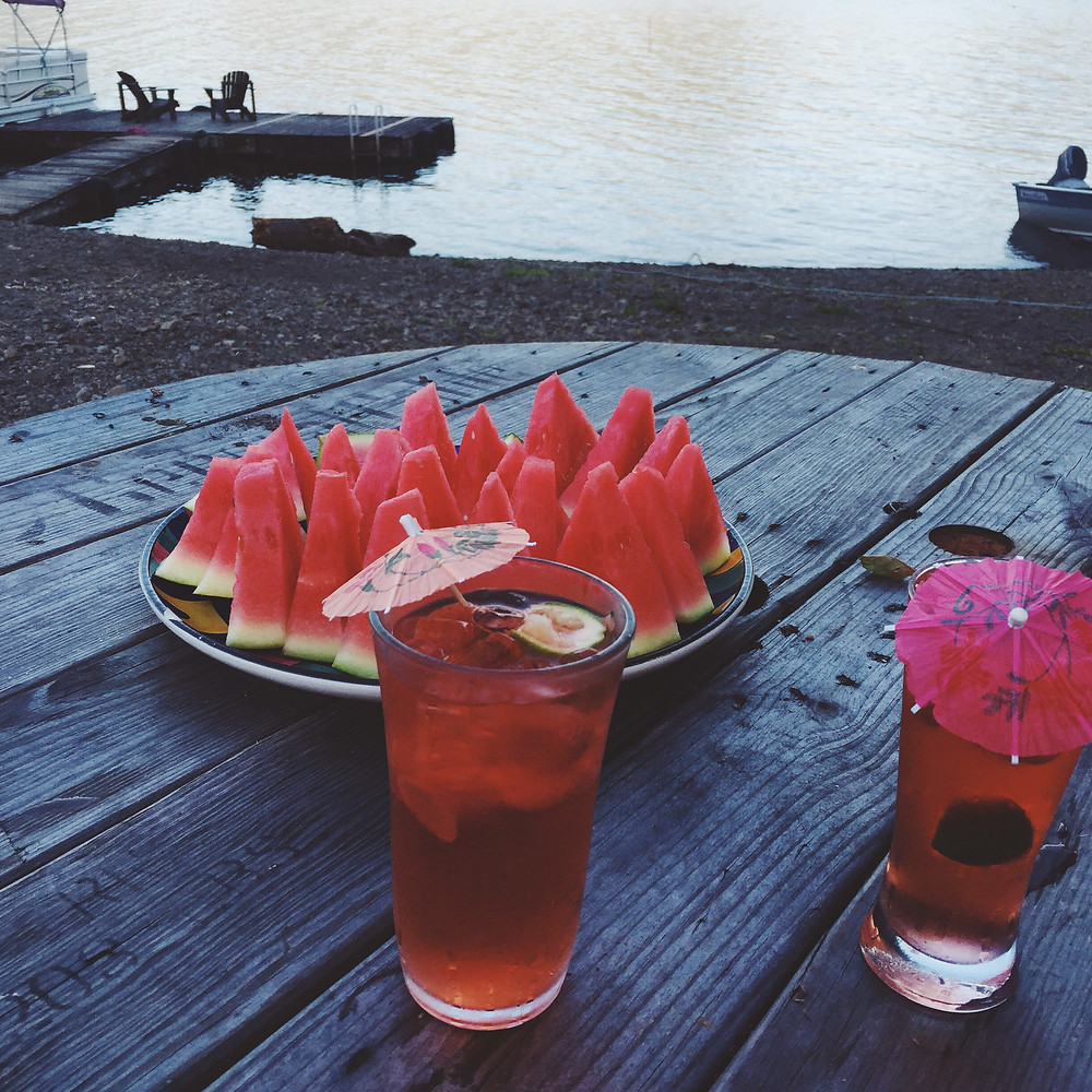 Watermelon and summer cocktails- photo by Emily Katz