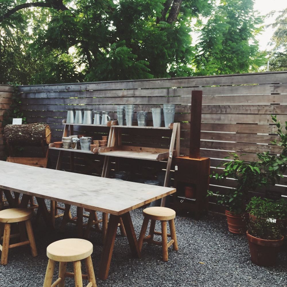 the cutest backyard at SHED