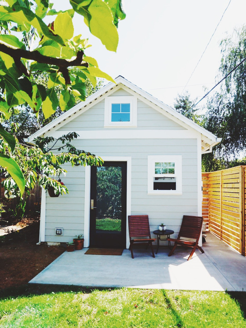THe exterior of the tiny house