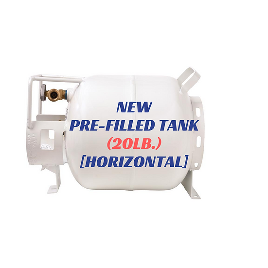 New Pre-Filled Tank (20lb.) [Horizontal]