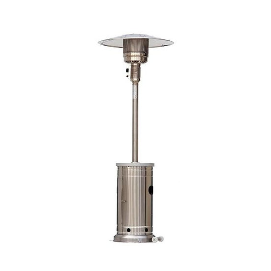 Patio Heater (With Wheels) (48000 BTU Stainless Steel)