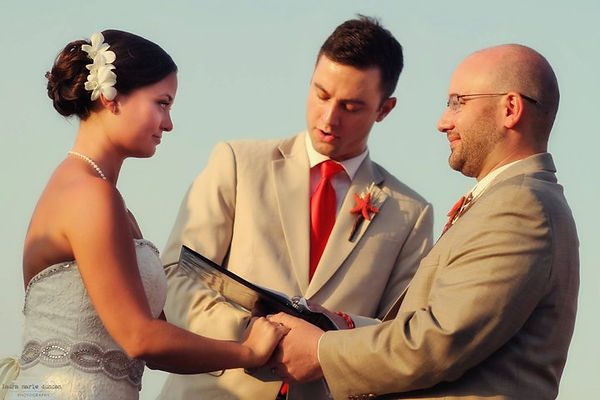 Wedding pic with travis and gretchen (1)