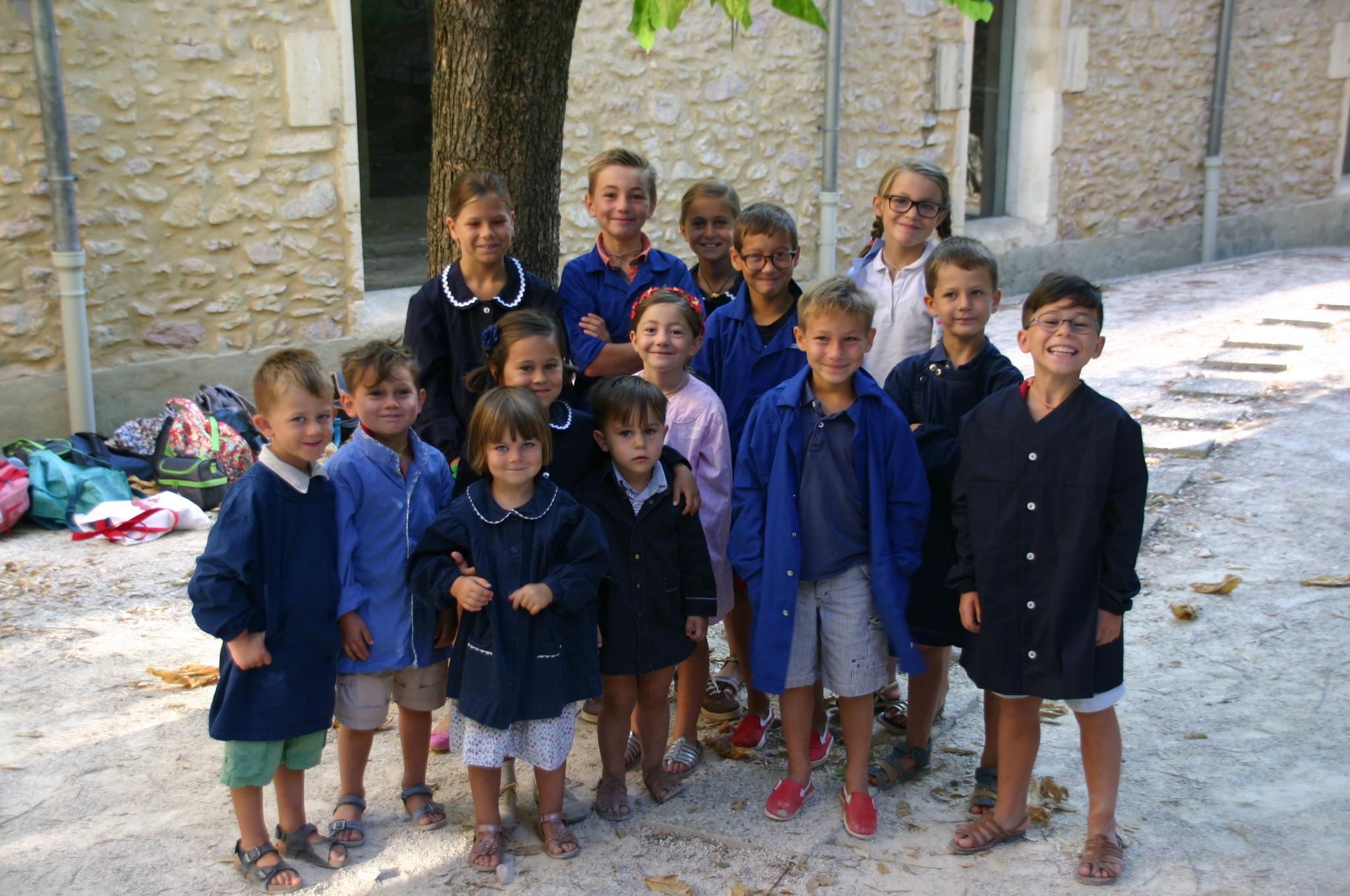 joyeux enfants de Frigolet!
