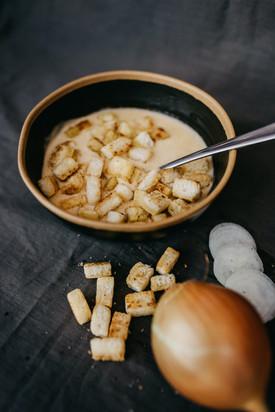 Kartoffelsuppe mit GF Croutons