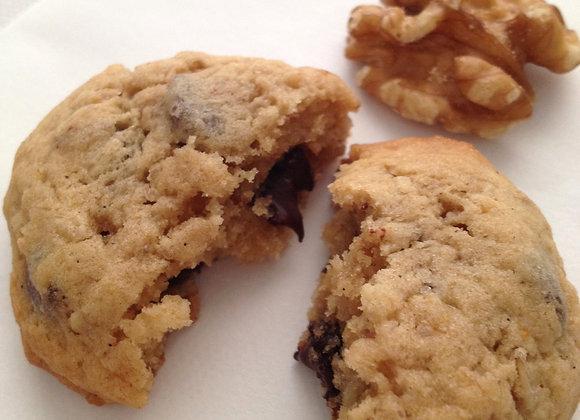 Banane Walnuss Choc Cookies