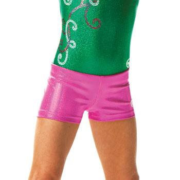 Sparkle Spandex Pink Shorts