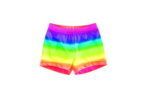 Rainbow Fashion Print Shorts
