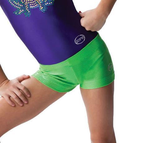 Sparkle Spandex Hot Green Shorts