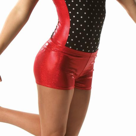 Sparkle Spandex Scarlet Shorts
