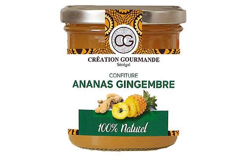 Confiture Ananas Gingembre, 200G