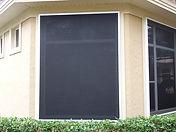 Windows after golf ball Panels