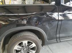 Dented Black Truck, before