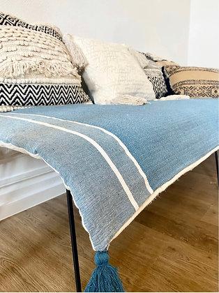Sofa cover en fouta Bleu ciel