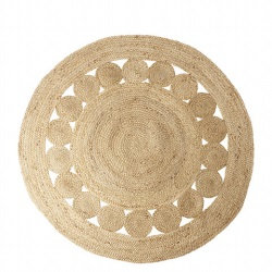 tapis naturel rond fibres naturelles hippie Moodbox