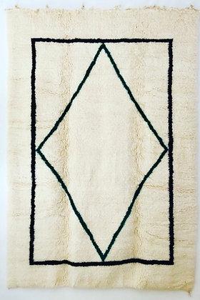 tapis beni ouarain véritable marocain fait main sur mesure berbère laine moodbox