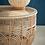 Table basse d'appoint ELEMENT en rotin et verre plateau de verre SEMA Design Moodbox