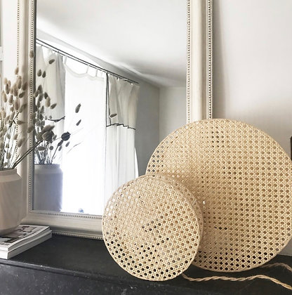 Lampe en cannage Moon Anso Design Moodbox