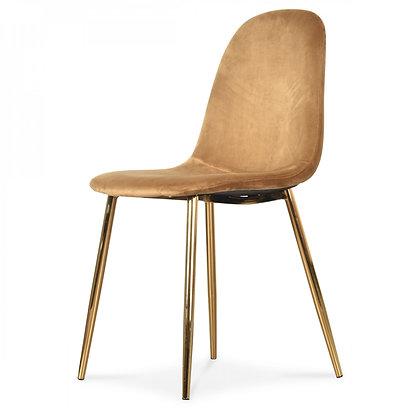 Chaise Josef plastique métal velours salle à manger brun clair salon moderne Opjet Moodbox