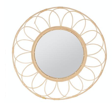 Miroir Rotin Rosace