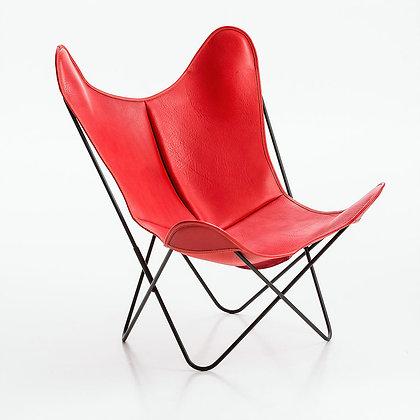 fauteuil AA cuir lissé indoor buffalo rouge original Butterfly Airborne Moodbox