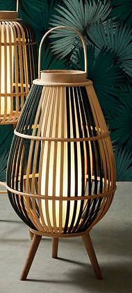 Lampe lanterne sur pieds Cordey naturel bohème bambou et sapin SEMA Design Moodbox