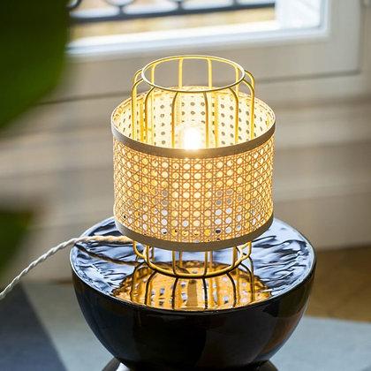 Lampe baladeuse en cannage Piou-Piou avec bande naturelle Unum Design Moodbox