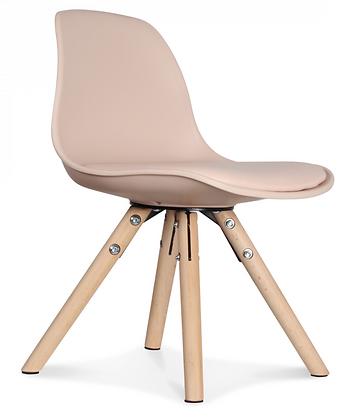 Chaise scandinave mini enfants petite taille fille garçon rose blush bois hêtre plastique coussin Opjet Moodbox