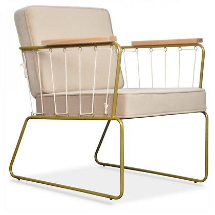 fauteuil cabanette velours bois opjet moodbox