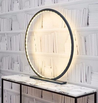 lampe cercle sur pied en bois personnalisable hêtre moodbox