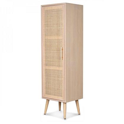 petite armoire Roro bois hévéa rotin cannage Opjet Moodbox