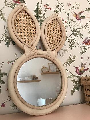 miroir Castille lapin enfant cannage chambre enfant mignon déco nature bois lifestyle déco bohème maroc Moodbox