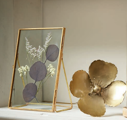 Cadre à poser LIMONIUM verre métal fleurs séchées SEMA Design Moodbox
