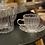 Tasse et soucoupe en verre strié Bazardeluxe Moodbox