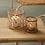 Photophores Aria verre et rotin deux tailles SEMA Design Moodbox