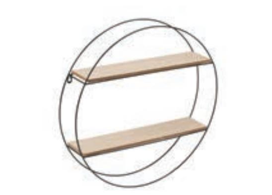 Étagère SHIMA ronde deux niveaux métal et mdf SEMA Design Moodbox