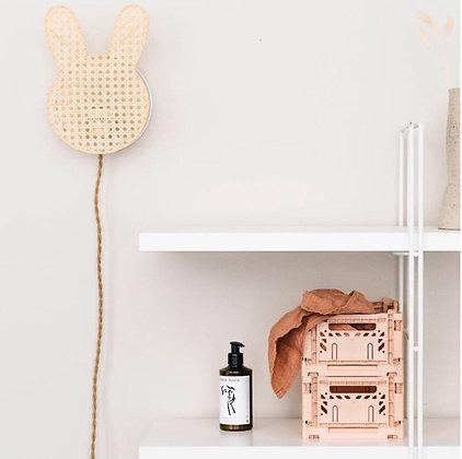 Lampe Lapin cannage enfant chambre enfant déco mignon Anso Design Moodbox